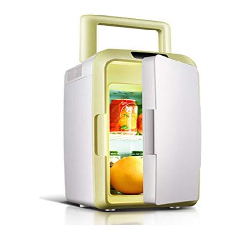 YSXFS Mini Nevera, Mini Nevera para Uso En El Hogar, Mini Refrigerador Eléctrico Refrigerador Y Calentador Vertical Y Horizontal Refrigerador De Coche 10 litros 25 * 25 * 41 Cm(Color:Amarillo)
