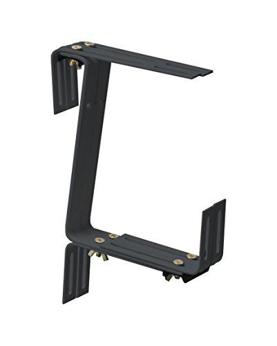 Windhager Blumenkasten-Halter für Brüstungen und Balkongeländer, Stabil, Tragkraft 45 kg, 22 x 17 cm, Anthrazit, 05832