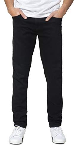 DECIDER Denim Herren Jeans Hose WW-D03 Tapered Slim Fit Stretch, 32W - 32L, Black Basic