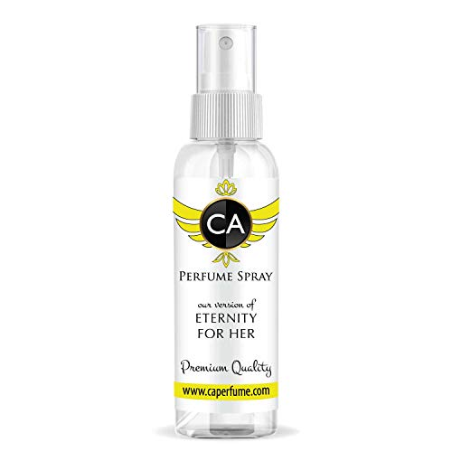 CA Perfume Impression of Eternity For Women Travel Size Refillable Atomizer Sample Replica Fragrance Eau de Parfum Cologne Sprayer (2 Fl Oz/ 60 ml)
