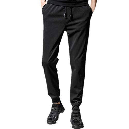 Mens sólido cordón bolsillo pantalones deportivos casual viga pies pantalones de negocios masculinos clásicos mediados