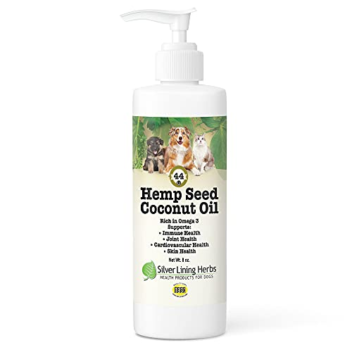 Silver Lining Herbs Coconut Oil for Dogs with Hemp Seed Oil...