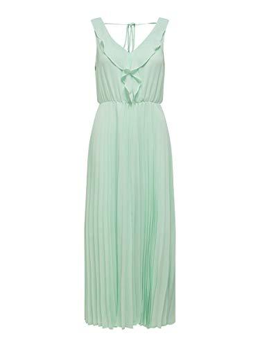 ONLY Damen ONLANGILA S/L Dress WVN Kleid, Aqua Foam, 36