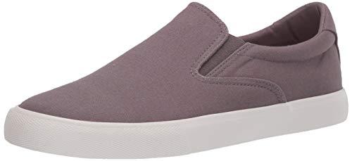 Amazon Essentials Men's Classic Canvas Slip On Sneaker, Gray, 7.5 D US