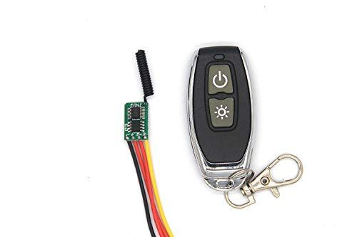 Mini interruttore radiocomandato in miniatura3,7V, 5V, 12V, 24V, 433MHz, batteria al litio, modulo commutazione super bassa, due modalità di scelta della luce, controllo motore (modalità ad incastro)