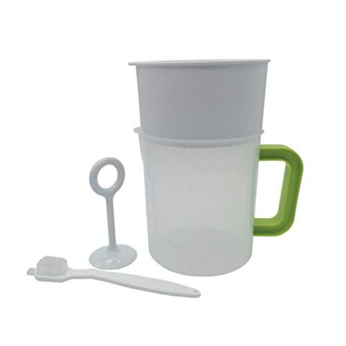 BESTONZON 4 Stück Kunststoff Sojamilch Maker Filter Set wiederverwendbar Sojamilchsieb inkl. Filter Cup Rod Brush (1,5 l)