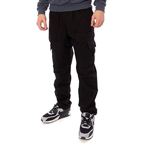 Urban Classics Herren Ripstop Cargo Pants Hose, Schwarz (Black 00007), W(Herstellergröße: L)
