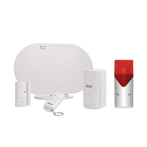 ABUS Basisset FUAA35001A Smartvest, Zentrale, Öffnungsmelder, Fernbedienung inkl Funk-Sirene 100 dB