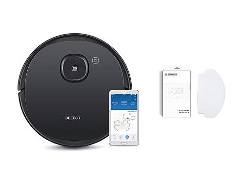ECOVACS DEEBOT OZMO 950 - Care - Saug- & Wischroboter + 50 Reinigungstücher - mit intelligenter Navigation – Google Home, Alexa- & App-Steuerung