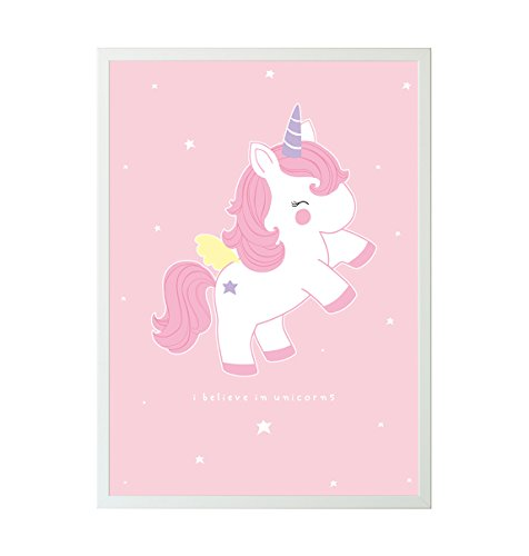 A Little Lovely Company Poster Licorne