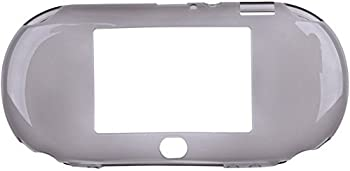 TPU Protective Silicone Case Skin Cover Shell for Playstation PS Vita 2000 PSV 2000  Clear Black