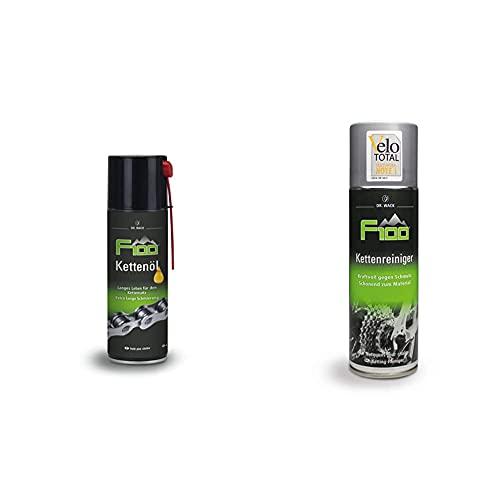 Dr. Wack - F100 Kettenöl – Spray 300 ml I Premium Fahrrad Kettenöl für weniger Reibung & F100 Kettenreiniger 300 ml I Premium Fahrrad-Kettenreiniger I Verbessert Leichtlaufeigenschaften