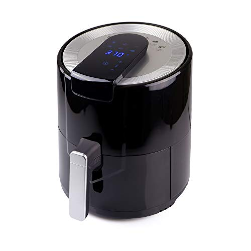 BIGTREE Air Fryer 5L (5.8qt) Family Size Electric Hot Air Fryers XL Oven Oilless Cooker with Presets Nonstick Detachable Basket UL Certified 1500W Multi Mode LCD Timer - Black