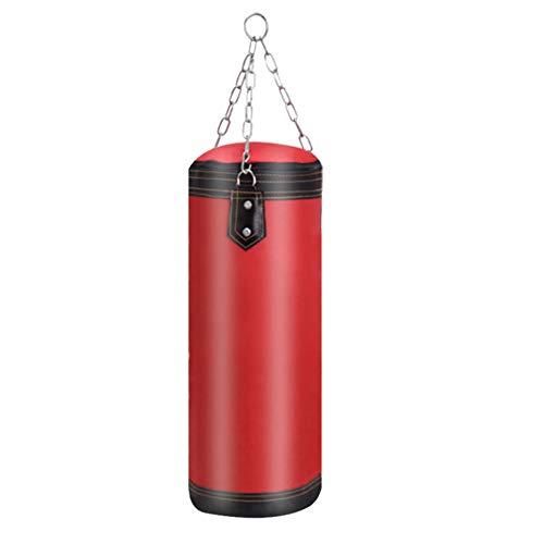 ,a Equipo de entrenamiento de boxeo Muay Thai vacío punching Kick Sandbag Pilar