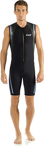 Cressi Termico Man Wetsuit 2 mm, Muta Shorty in Neoprene High Stretch Uomo, Nero/Blu, L/4