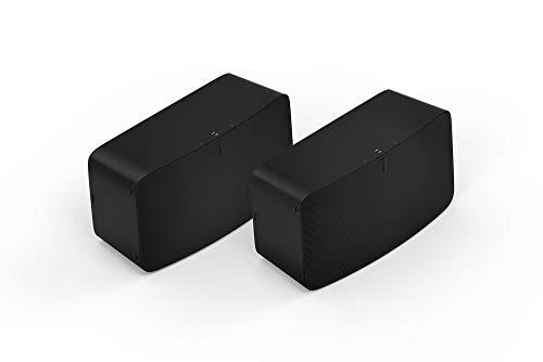 Sonos Five Two Room Set - The high-Fidelity Speaker for Superior Sound - Black