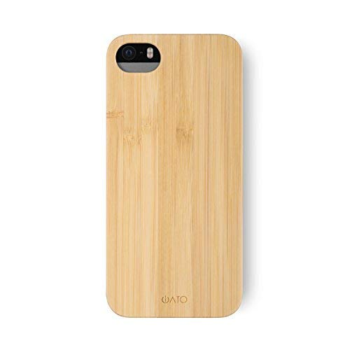 iATO iPhone SE / 5s / 5 Wooden Case - Real Bamboo Wood Grain Premium Protective Shockproof Slim Back Cover - Unique, Stylish & Classy Thin Snap on Bumper Accessory Designed for iPhone SE / 5s / 5