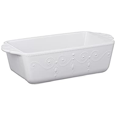 Lenox French Perle Loaf Pan, White