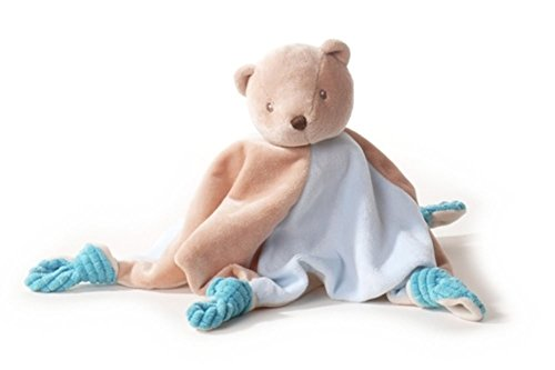 Inware 7974 - Doudou Ours Charly, beige/bleu