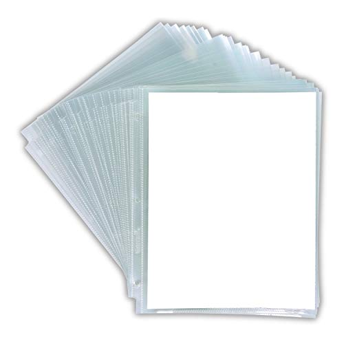 Samsill 50 Pack Multi-Page High Capacity Sheet Protectors Top Loading, Each Sheet Can Hold up to 50 Sheets of Paper, 8.5X 11