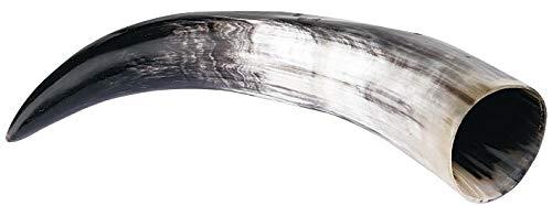 Vaso cuerno Vikingo 0,5 litros Cuerno bebedor negro-blanco