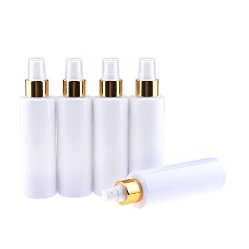 B Blesiya Bouteille Cosmétique de Vacuum à Pompe en Acrylique Rechargeble pour Crème Huile Essentielle Avec Couvercle - 5pcs 150ML