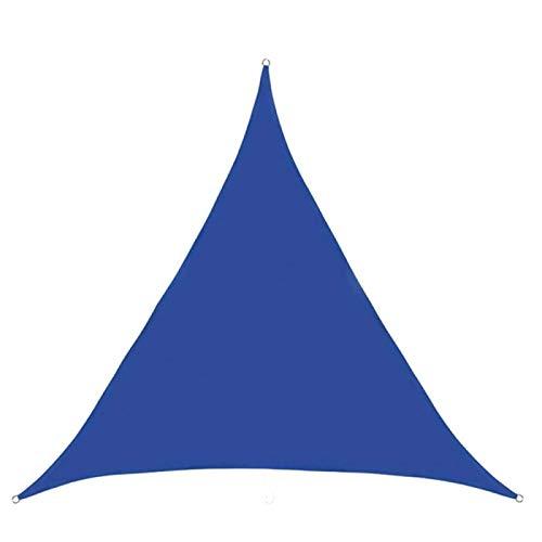 CHSSIH Sombrilla triangular de toldo toldo toldo toldo para exterior de tela con cuerda para terraza exterior jardín fiesta piscina piscina azul 3 x 3 x 4,3 m
