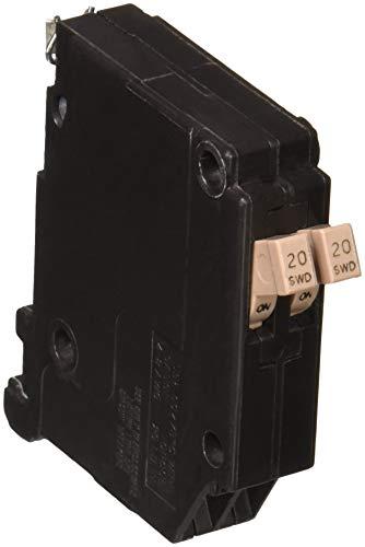 EATON CHT2020CS Cutler Hammer Circuit Breaker, 20 A, 120/240 Vac, 10 Ka, 14-8 Awg, 1 Poles, Plug-On Mount