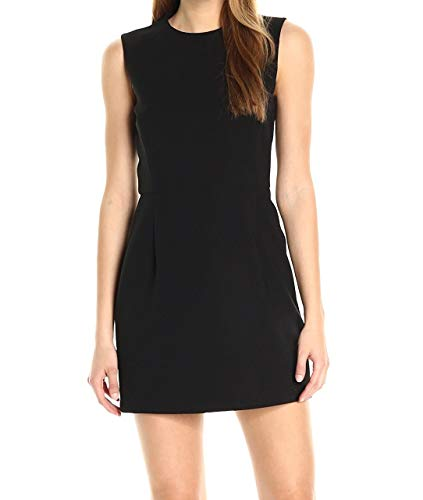 French Connection Women's Whisper Light Stretch Solid Mini Dress, Black Sundae, 12