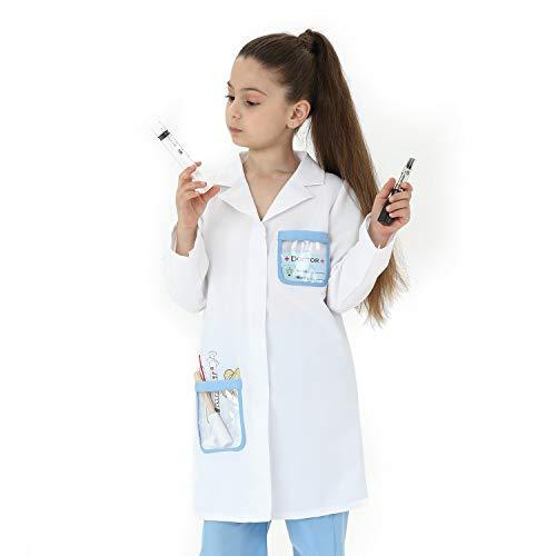 Sincere Party Disfraz de doctor unisex para niños, disfraz de doctor, juegos de disfraces, estilo B, 7-9 años