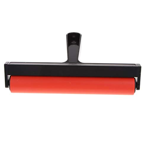 Rubber Roller - Premium Rubber Brayer Roller Wallpaper Stamping Anti Skid Tape Construction Gluing Application - Application Pottery Rubber Anti Construction Roller Gluing Tool Premium
