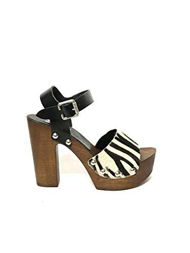 Sandalen Heilige hoefschoenen van leer voor paarden Zebra Follie
