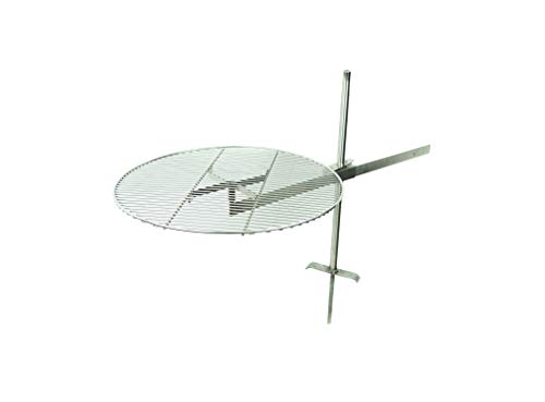Saucer-X Campfire Grill - The Stainless Steel Portable Campfire Accessories That Makes Outdoor Camp Cooking Easy! Large 24' Cooking Grate
