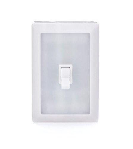 Kikkerland - KLP56-EU - LED interrupteur repositionnable - Plastique, Blanc