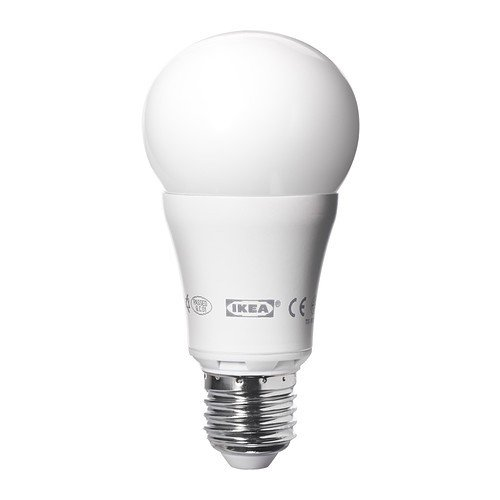 IKEA LEDARE LED Lampe E27; dimmbar; rund; in opalweiß; 600 Lumen, A