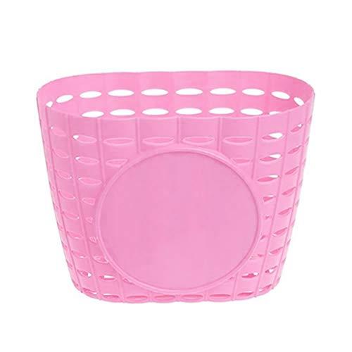 SmallYin Children Bike Storage Holder Plastic Bicycle Basket Front Handlebar Carrier 0309DER115,Pink