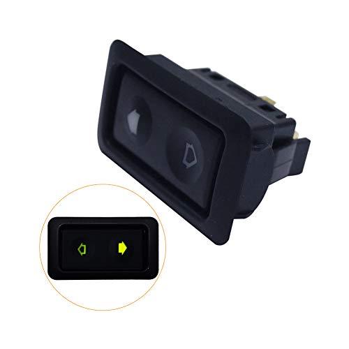 BEESCLOVER 10-30 A Interrupteur de fenêtre électrique pour Toutes Les Voitures avec lumière LED Verte Noir