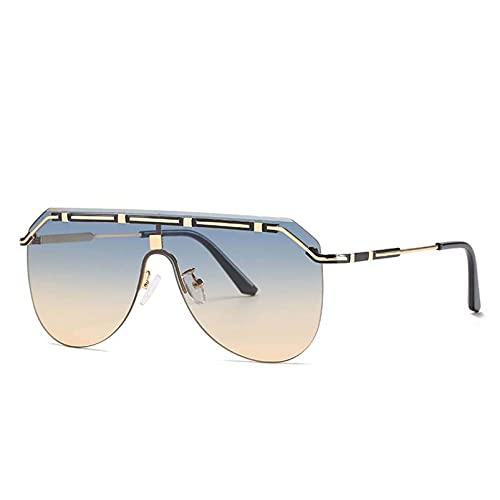 AMFG Modernas gafas de sol retro gafas de sol para mujer gafas de sol sin llena de solparentes de viaje al aire libre espejo (Color : D)