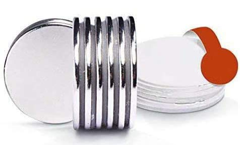 FEYG Magnete, Magnete Stark, Neodym Magnet Extra stark,32x2 mm Extrem Stark, Neodym Magnete,Magnet selbstklebend,Magnete für magnettafel,Magnettafeln,Glas Magnetboards