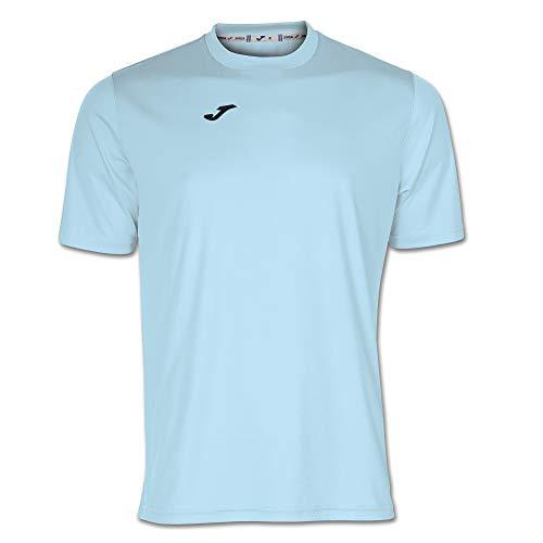 Joma Combi Camiseta Manga Corta, Hombre, Azul (Celeste), XL