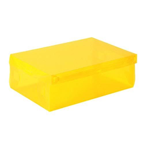 JICCH Cajas de Zapatos Caja de Zapatos Cajas Zapatos Transparentes con Agujero de Ventilación,Cajas Zapatos Apilable,Ideal para Guardar Calzado de Muchos Tipos