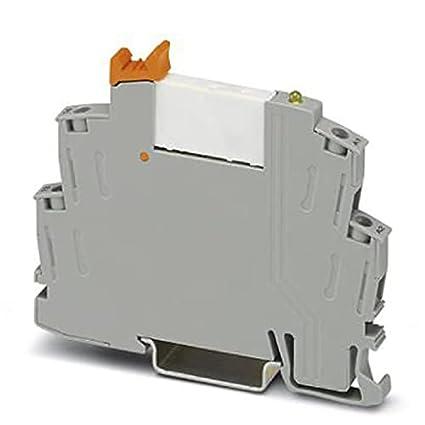 PHOENIX CONTACT RIF-0-RSC-24DC/1AU - Módulo de relé premontado con conexión roscada, zócalo de relé con expulsor y relé de contacto dorado multicapa, 1 terminal, voltaje de entrada de 24 V CC