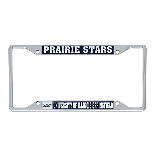 University of Illinois Springfield UIS Prairie Stars Metal License Plate Frame for Front or Back of Car Officially Licensed (Mascot)