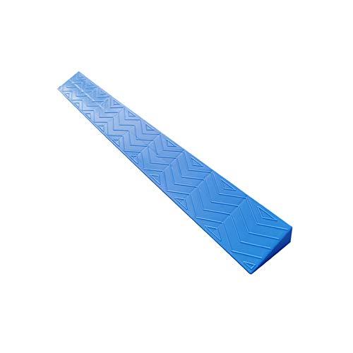 Alfombras De Rampsas Azules, Alargamiento Antideslizante Triángulo Pad School Umbral De Fábrica Rampsas Portátiles Fáciles De Instalar Rampsas De Silla De Ruedas(Size:100 * 8 * 2CM,Color:Azul)
