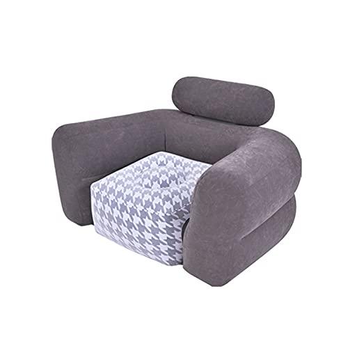 Sofá Inflable Perezoso, Sofá de Ocio Plegable Individual, Sillon Hinchable Cómoda y Suave con Reposabrazos, Sala de Estar, Dormitorio