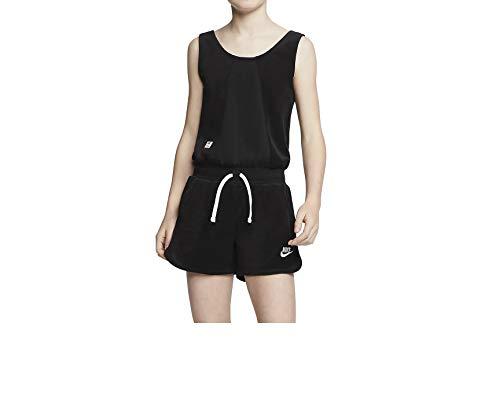 Nike Heritage Mädchen Kids Romper Jumpsuit (XS, Black/White)