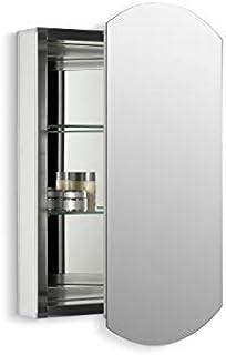 KOHLER K-3073-NA Archer Frameless 20 inch x 31 inch Aluminum Bathroom Medicine Cabinet; ; Recess or Surface Mount