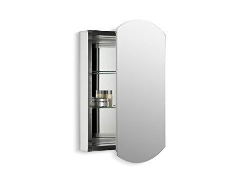 KOHLER K-3073-NA Archer Frameless 25 inch x 35.5 inch Aluminum Bathroom Medicine Cabinet; ; Recess or Surface Mount