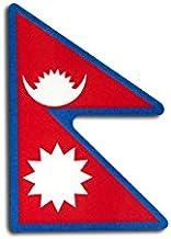 ネパール 国旗 ステッカー ( 屋内 ・ 屋外 用 防水 シール ) (2S 約30mmx43mm)