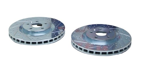 BAER 55175-020 Sport Rotors Slotted Drilled Zinc Plated Front Brake Rotor Set - Pair